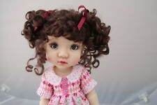 Monique ABBY Wig Brown Black Size 10-11 SD BJD shown on My Meadow Mae