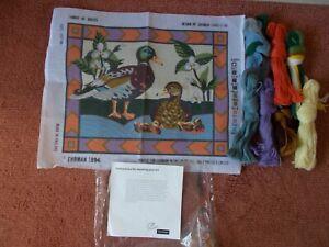 "Tapestry Kit Ehrman "" FAMILY OF DUCKS "" New 19"" x 15""  1994"