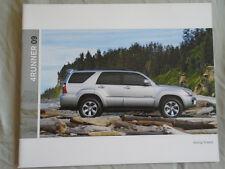 Toyota 4Runner range brochure 2009 USA market