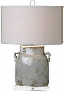 Melizzano Ivory-Gray Table Lamp by Uttermost #26613-1