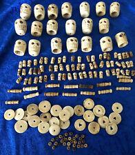 Antique Memento Mori Bone Rosary Pieces