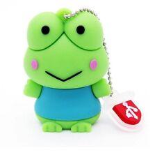 1pc 16GB Green Blue Frog Keychain USB Flash Thumb Drive USA Shipper