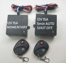 12v 2ch 15A remote control switch with 1ch momentary 1ch 5min auto off switch