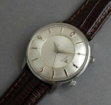 JAEGER LECOULTRE MEMOVOX Stainless Steel  Gents Vintage Alarm Watch 1965