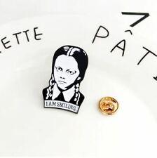 Enamel Pin Badges - Set of 1 - Wednesday Addams I Am Smiling - EB0103