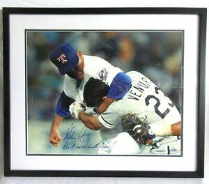 NOLAN RYAN AUTOGRAPH 16x20 PHOTO FRAMED STEINER COA DONT MESS WITH TEXAS HOF MLB