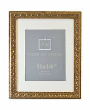 Set of 6 11x14 Ornate Finish Photo Frame  Bronze Color with White Mat for 8x10