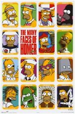 "Simpsons Face - The Faces of Homer Poster 24X36"" Inch Twentieth Century Fox"