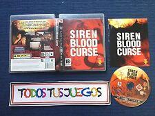 Siren Blood Curse Playstation 3 Pal ES EXCELENTE CONDICION Raro Rare