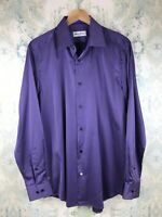 Robert Graham Purple Button Down Striped Career Casual Men's Shirt 16.5 42