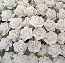 100 Mulberry Paper Flowers Wedding Headpiece Scrapbook Cards Basket Roses R8-15