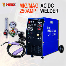 New MIGSTAR 250A 250 Amp Gas Mig/Mag Welder Welding Machine for Metal