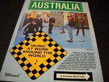 Men At Work from Australia 1983 Prom Display Ad mint condition