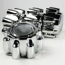 "For 99-05 Ford F250 Chrome Wheel Hub Center Caps Lug Nut Covers 16/18"" 8 Lug Rim"