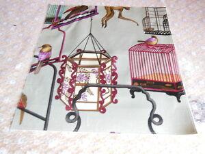 GP & J Baker Velvet Fabric Sample - Menagerie