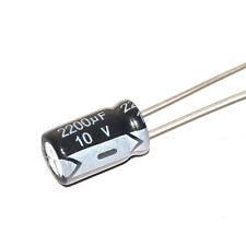 Free Shipping 10Pcs  2200uF 10V Aluminum Electrolytic Capacitor 10*17 mm Radial