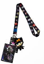 Jojo's Bizarre Adventure SD Characters Lanyard ID Badge Holder & Jotaro Charm