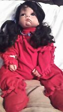 Melanie Parker Levi? Porcelain Head Adorable in Red Native American Indian Girl