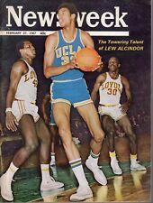 1967 (Feb. 27) Newsweek magazine, Basketball, Lew Alcindor, UCLA Bruins ~ VG