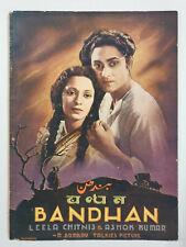 1940 Bollywood Film Booklet BANDHAN Leela Chitnis Ashok Kumar