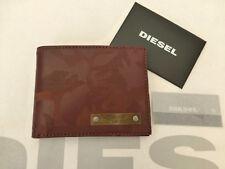 Portafoglio Carte piccolo DIESEL 03791 Neela-XS Marrone Bifold Camo PU PORTAFOGLI NUOVO con etichetta RRP £ 60