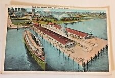 Vintage Postcard  East 9th St Pier Cleveland Ohio Shipping Ship Souvenir Trip