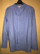Next Women's Blue Spot Ruffle Shirt - Size 20 - Worn Once - Excellent Condition