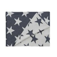 100 % Cotton Throw Stars White & Grey Blanket by Home Interiors