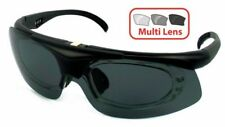 EVOLUTION RX 4 CLAY PIGEON SHOOTING GLASSES 4 LENSES & PERSCRIPTION INSERT