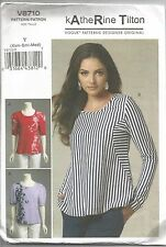 Vogue Sewing Pattern 8710, Katherine Tilton Tops, Size 4 - 14, Uncut