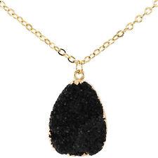 1pc Natural Druzy Rock Crystal Pendant Necklace Quartz Clusters Geode Stone Gems