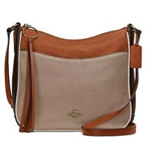 ❤️ Coach Chaise Colorblock in Pebble Leather Taupe Ginger Multi/Gold Crossbody