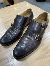 Sid Mashburn brown double monk strap size 10 Made in Italy