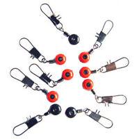 4X(10 Stueck Rot Schwarz Perlen Linie um Wirbel Anschluesse 35mm langen Haken PT