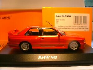 WOW SUPERB SOLD OUT MAXICHAMPS 1/43 RED 1987 BMW M3 (E30) OUTSTANDING DETAIL NLA