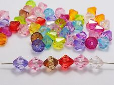 "100 Mixed Colour Transparent Acrylic Faceted Bicone Beads Spacer 12X12mm(1/2"")"