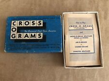 Vintage cross o grams card game in box mid century