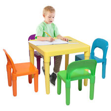 Kids Table*4 Chairs Play Set Toddler Child Toy Play Furniture In-Outdoor