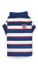 """Zack & Zoey UM578410 Patriotic Pooch Spf40 Polo Shirt For Dogs- 10"""" X-Small NEW"""