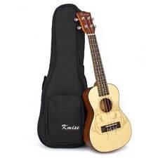 Kmise Concert Ukulele Uke Hawaii Guitar Laminated Spruce Acoustic 23 Inch W/bag