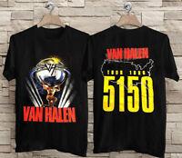 Vtg Van Halen 5150 Tour T-Shirt 1986 Rare Concert Shirt New Gildan Full USAsz