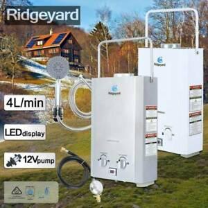 Gas Hot Water Heater - Portable Shower Camping LPG Outdoor Instant Caravan