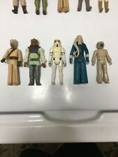 80's Star Wars lot Vintage Kenner figures w/ 1977 Stormtrooper & Tusken Raider