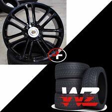 "24"" CA83 Style Wheels & Tires Gloss Black fits Cadillac Escalade ESV EXT 6x139.7"