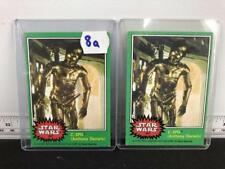 """1977 Topps Star Wars C3PO #207 - """"X-Rated"""" Error and Regular Versions Lot 8A"""