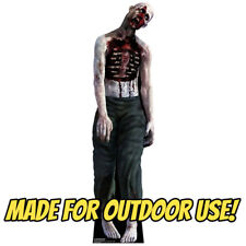 ZOMBIE MAN Plastic OUTDOOR YARD DECOR Standee Standup Hallowee Prop FREE SHIP
