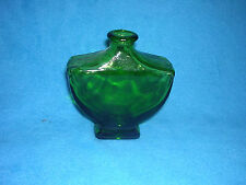 """Shield Style Glass Jar Done in Green, Looks Vintage Stands About 5 1/2"""" Tall"""