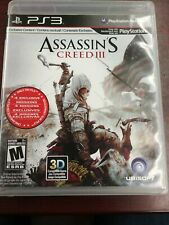 Playstation 3 PS3 Assasin's Creed 3 Region 1 Usa/canada Complete game