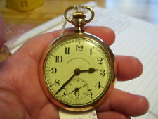 Lot #8 Antique Time Ball Special 21 Jewels Rr Dial Pocket Watch Running Rare!
