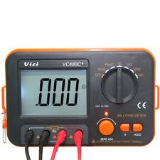 mili-Ohm Multímetro Digital 3 1//2 con 4 cables y cable de alimentación VC480C